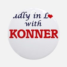 Madly in love with Konner Round Ornament