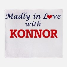 Madly in love with Konnor Throw Blanket
