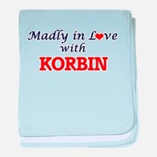 Madly in love with Korbin baby blanket