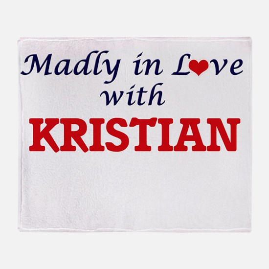 Madly in love with Kristian Throw Blanket