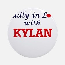 Madly in love with Kylan Round Ornament