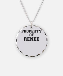 Property of RENEE Necklace Circle Charm