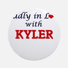 Madly in love with Kyler Round Ornament