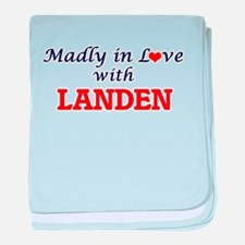 Madly in love with Landen baby blanket