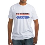 Feedom - Free Speech Fitted T-Shirt