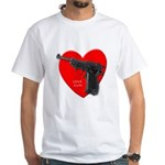 Love Gun Pistol White T-Shirt