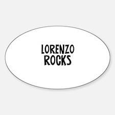 Lorenzo Rocks Oval Decal