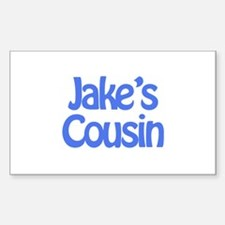 Jake's Cousin Rectangle Decal