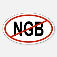 NGB Oval Decal