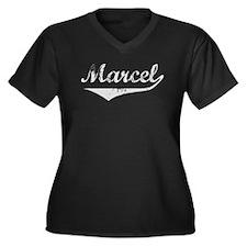 Marcel Vintage (Silver) Women's Plus Size V-Neck D