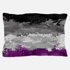 Asexual Paint Splatter Flag Pillow Case