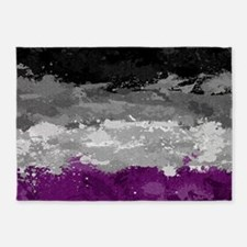 Asexual Paint Splatter Flag 5'x7'Area Rug