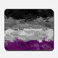 Asexual Paint Splatter Flag Mousepad