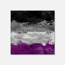 """Asexual Paint Splatter Flag Square Sticker 3"""" x 3"""""""