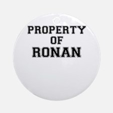 Property of RONAN Round Ornament