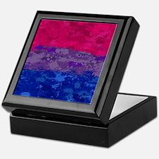 Bisexual Paint Splatter Flag Keepsake Box