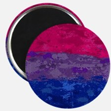 Bisexual Paint Splatter Flag Magnet