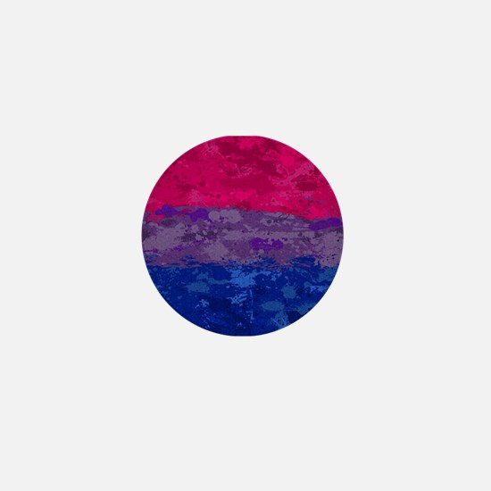 Bisexual Paint Splatter Flag Mini Button