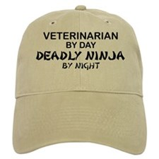 Veterinarian Deadly Ninja Baseball Cap