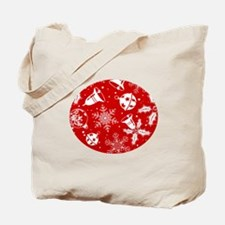 Red Christmas Pattern Tote Bag