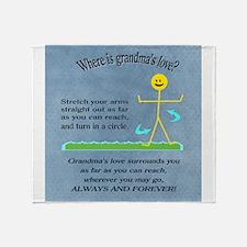 Cute Grandma granddaughter Throw Blanket