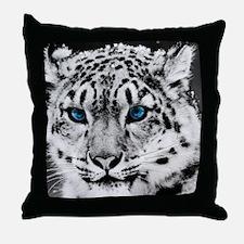 Leopardo Snow Throw Pillow