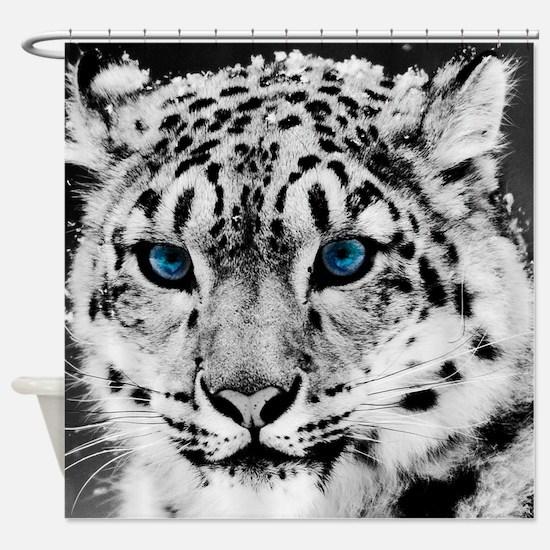 Leopardo Snow Shower Curtain