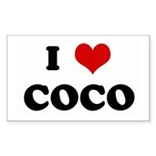 I Love COCO Rectangle Decal