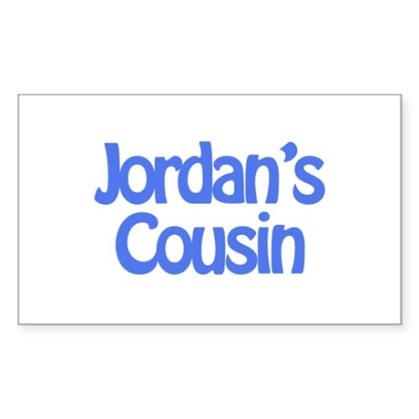 Jordan's Cousin Rectangle Sticker