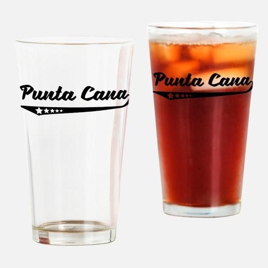 Punta Cana Dominican Republic Retro Logo Drinking