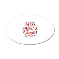 BLESS YOUR HEART -2 Wall Decal