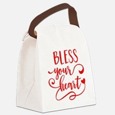 BLESS YOUR HEART -2 Canvas Lunch Bag