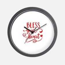 BLESS YOUR HEART -2 Wall Clock