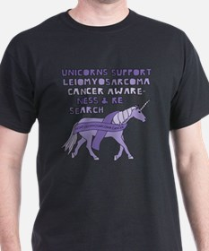 Unicorns Support Leiomyosarcoma Cancer Awa T-Shirt