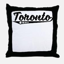 Toronto Canada Retro Logo Throw Pillow