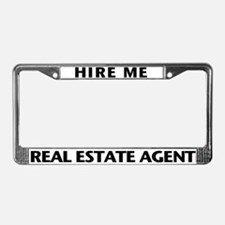 HIRE ME (Black) License Plate Frame