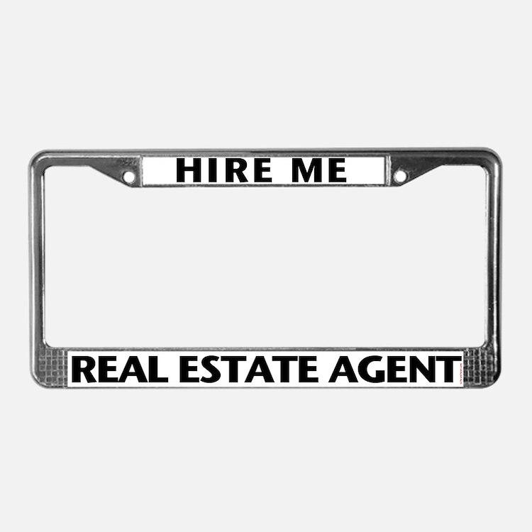 HIRE ME (Black) License Plate Frame