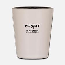 Property of RYKER Shot Glass