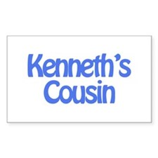 Kenneth's Cousin Rectangle Decal