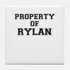 Property of RYLAN Tile Coaster