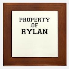 Property of RYLAN Framed Tile