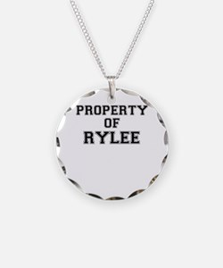 Property of RYLEE Necklace Circle Charm