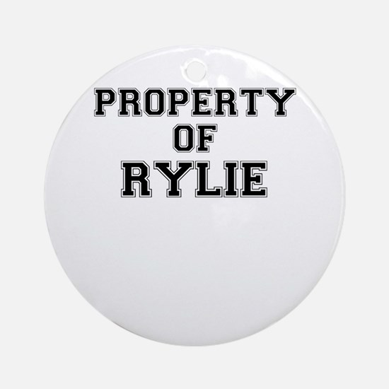 Property of RYLIE Round Ornament
