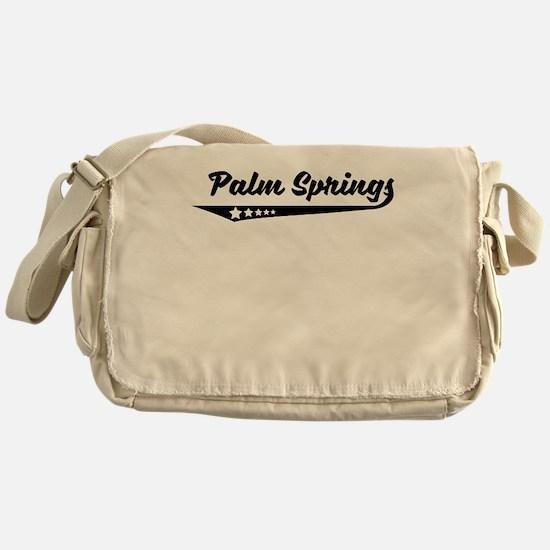 Palm Springs CA Retro Logo Messenger Bag