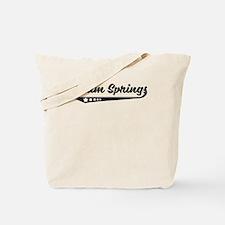 Palm Springs CA Retro Logo Tote Bag