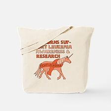 Unicorns Support Leukemia Awareness Tote Bag