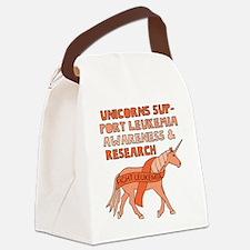 Unicorns Support Leukemia Awarene Canvas Lunch Bag