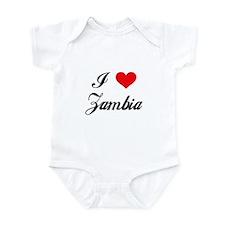 I Love Zambia Infant Bodysuit