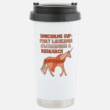 Unicorns Support Leukem Stainless Steel Travel Mug