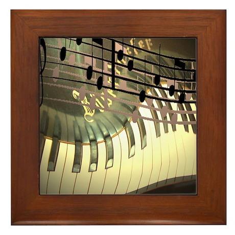 Piano Art Framed Tile